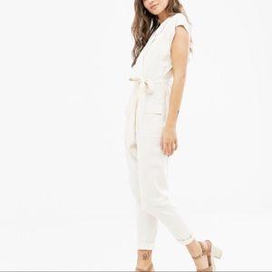 ASOS linen-blend boiler jumpsuit